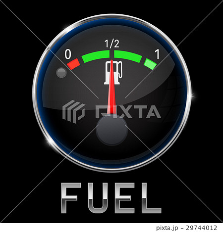 Car engine temperature black gauge. Normal. With 29744012