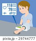 血圧計 血圧 腕のイラスト 29744777