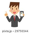 ビジネスマン スマホ スマートフォンのイラスト 29750344