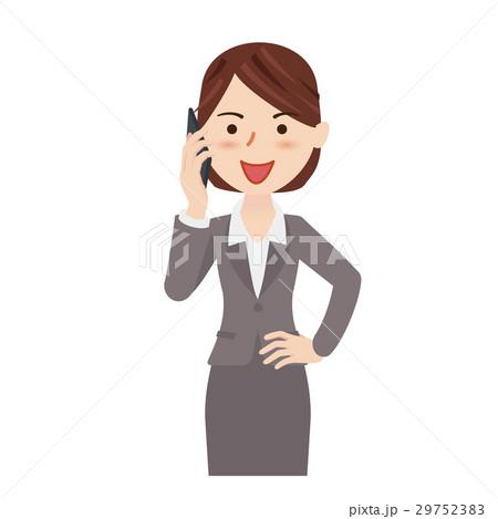 ビジネスウーマン 携帯電話 29752383