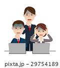 ビジネスチーム デスクワーク 29754189