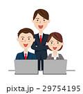 ビジネスチーム デスクワーク 29754195