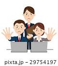 ビジネスチーム デスクワーク 29754197