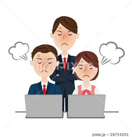 ビジネスチーム デスクワーク 29754201