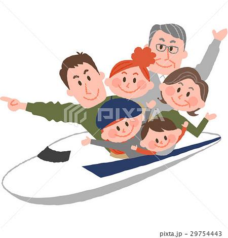 新幹線で家族旅行 29754443