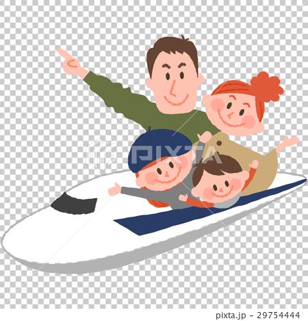 新幹線で家族旅行 29754444