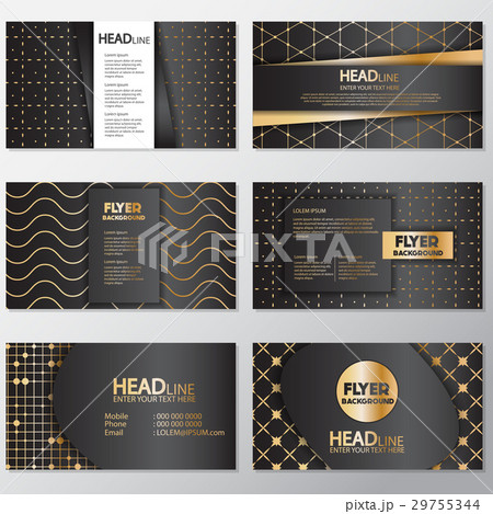 Gold banner background flyer style Design Templateのイラスト素材 [29755344] - PIXTA