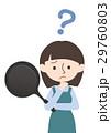 主婦 悩む フライパンのイラスト 29760803