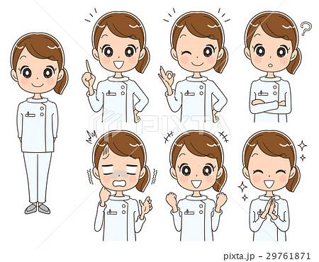 女性看護師のイラスト(セット 全身) 29761871