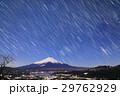高指山から見る月明かりの富士山・山中湖と星空 29762929