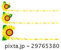 ひまわり ヒマワリ 花びらのイラスト 29765380