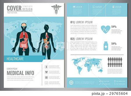 medical brochure design template healthcare andのイラスト素材