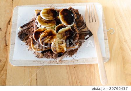 Sweet bread with banana dessertの写真素材 [29766457] - PIXTA