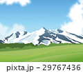 雪山と草原 29767436