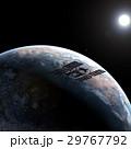 地球とISS (宇宙ステーション)3DCG perming3DCGmp160819 イラスト素材 29767792