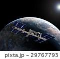 地球とISS (宇宙ステーション)3DCG perming3DCGmp160819 イラスト素材 29767793