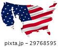 アメリカ 地図  国旗 自由の女神  29768595