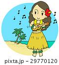 ハワイ ウクレレ 女性のイラスト 29770120