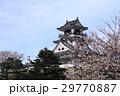 高知城天守閣と桜 29770887