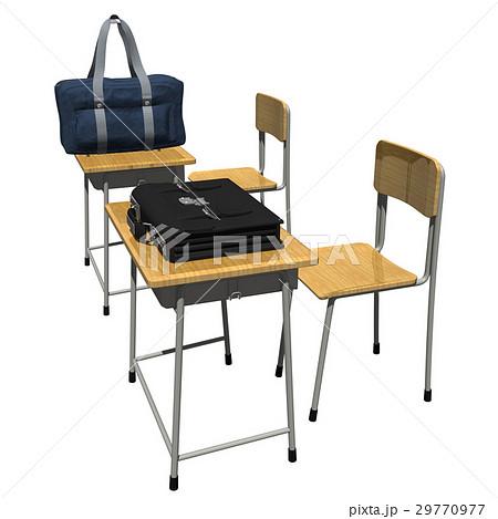 学生カバンと机(登校,下校,放課後,学習などのイメージ)のイラスト素材 [29770977] - PIXTA