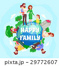 Happy Family Cartoon Composition 29772607