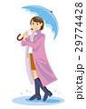 傘と女性2 29774428