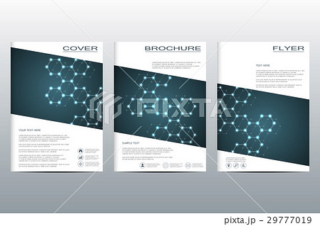 brochure template layout flyer cover annual reportのイラスト素材