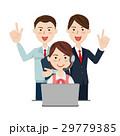 コールセンター ビジネスチーム ベクターのイラスト 29779385
