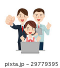 コールセンター ビジネスチーム ベクターのイラスト 29779395