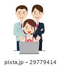 コールセンター ビジネスチーム ベクターのイラスト 29779414
