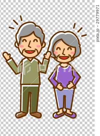 一對老年夫妻全身笑聲 29779971
