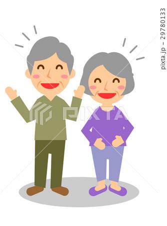 年配夫婦 全身 大笑い 29780133