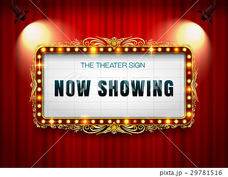 theater sign on curtain 29781516