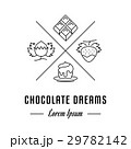 Vector Line Banner Chocolate 29782142