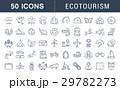 Set Vector Flat Line Icons Ecotourism 29782273