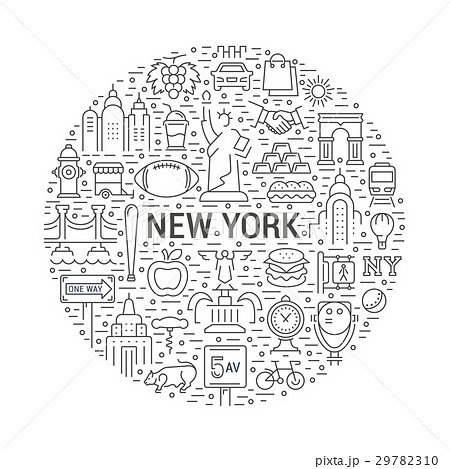 Vector Web Banner or Emblem New Yorkのイラスト素材 [29782310] - PIXTA