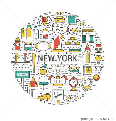 Vector Web Banner or Emblem New Yorkのイラスト素材 [29782311] - PIXTA