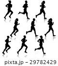 ランナー 走者 セットのイラスト 29782429