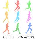 ランナー 走者 セットのイラスト 29782435