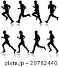 ランナー 走者 セットのイラスト 29782440