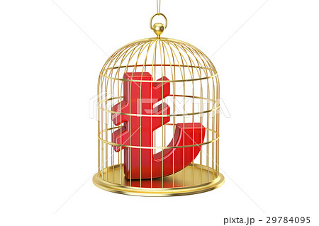 Birdcage with lira currency symbol inside 29784095