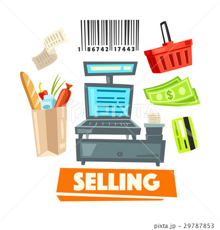 Shopping retail selling vector shop items icons 29787853