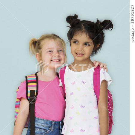 Girls Kids Having Fun Smiling Togetherness 29791827