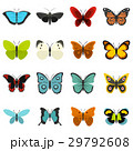 Butterfly set flat icons 29792608