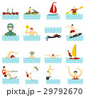 Water sport set flat icons 29792670