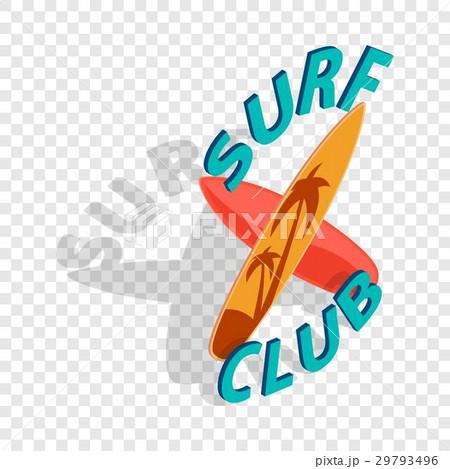 Surf club isometric iconのイラスト素材 [29793496] - PIXTA