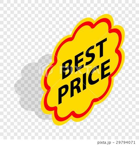 Label best price isometric iconのイラスト素材 [29794071] - PIXTA