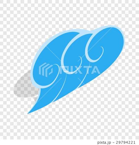 Blue wave isometric iconのイラスト素材 [29794221] - PIXTA