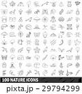 100 100 天然のイラスト 29794299