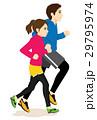 走る ランニング ジョギングのイラスト 29795974
